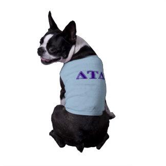Camiseta Letras do roxo do delta da tau do delta