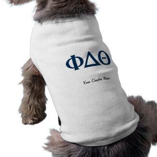 Camiseta Letras gregas - azul