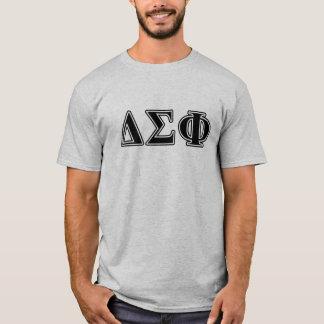 Camiseta Letras pretas da phi do Sigma do delta