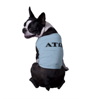 Camiseta Letras pretas da tau Omega do alfa