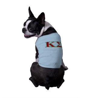 Camiseta Letras vermelhas e verdes do Sigma do Kappa