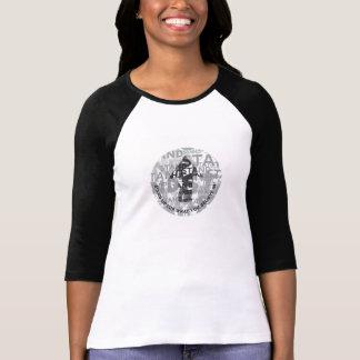 "Camiseta ""Levante-se"" 3/4 de t-shirt do Raglan da luva"