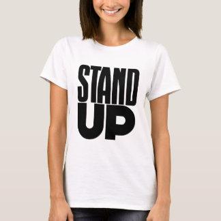 Camiseta Levante-se, texto corajoso e as palavras, resistem