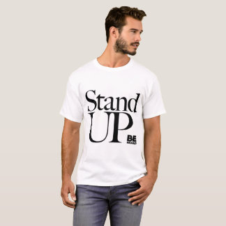 """Camiseta """"Levante-se"""" - texto e palavras do Serif"""