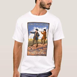 Camiseta Lewis e Clark - decepção do cabo, Oregon