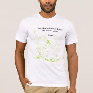 Camiseta libélula, há uma voz que não use o wo…