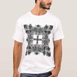 Camiseta Libélulas de sobreposição esquadradas