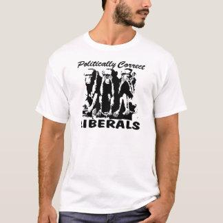 Camiseta Liberais polìtica corretos 3 macacos