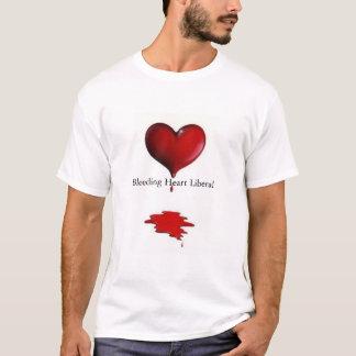 Camiseta Liberal do coração de sangramento