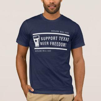 Camiseta Liberdade da cerveja de Texas do apoio - homens