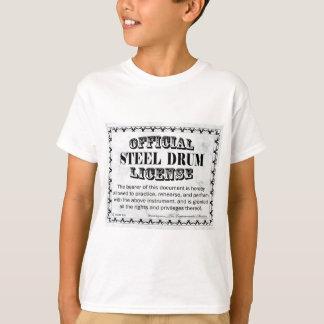 Camiseta Licença do cilindro de aço