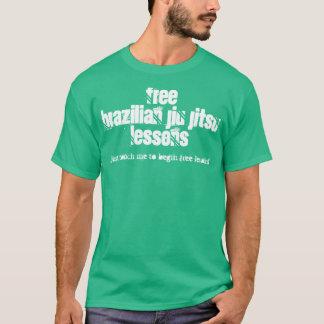 Camiseta Lições livres T de Jiu Jitsu do brasileiro