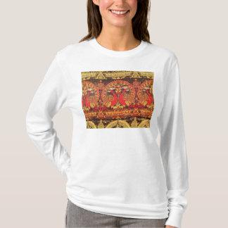 Camiseta Lide com o motivo do pavão e a inscrição kufic
