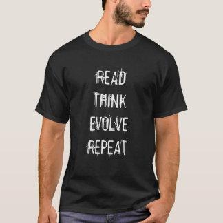 Camiseta Lido pense evoluem a repetição T