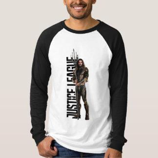 Camiseta Liga de justiça | Aquaman no campo de batalha