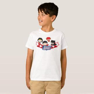Camiseta Liga de justiça de Chibi de estrelas de América