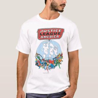 Camiseta Liga de justiça do grupo de América