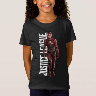 Camiseta Liga de justiça | o flash no campo de batalha