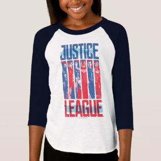 Camiseta Liga de justiça pop art azul & vermelho de | do