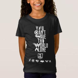 Camiseta Liga de justiça | você não pode salvar o mundo