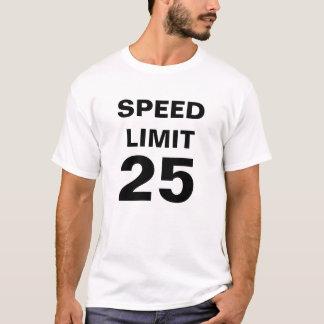 Camiseta Limite de velocidade 25