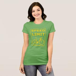 Camiseta Limite de velocidade de Rex do arco-íris: Amarelo