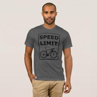 Camiseta Limite de velocidade de Rex do arco-íris: Preto