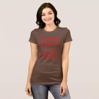 Camiseta Limite de velocidade de Rex do arco-íris: Vermelho