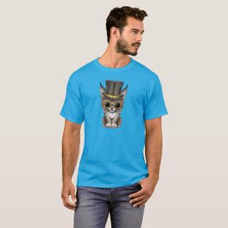 Camiseta Lince bonito Cub do bebê de Steampunk