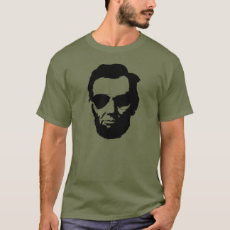 Camiseta Lincoln com óculos de sol do aviador - preto
