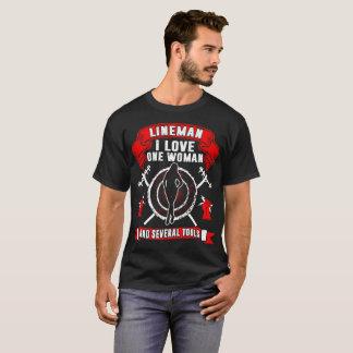 Camiseta Lineman eu amo uma mulher e Tshirt de diversas