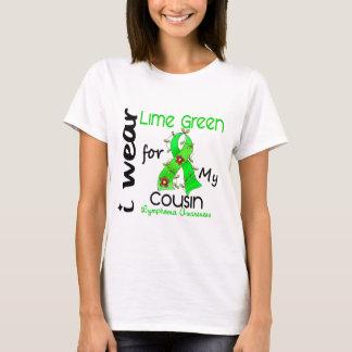 Camiseta Linfoma eu visto o verde limão para meu primo
