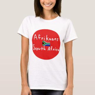 Camiseta Língua e bandeira de África do Sul do holandês