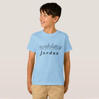Camiseta Linguagem gestual americano Fingerspelled Jordão