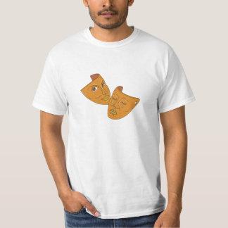 Camiseta Linha da comédia e da tragédia da máscara do
