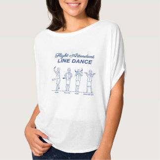 Camiseta Linha dança dos hospedeiros de bordo
