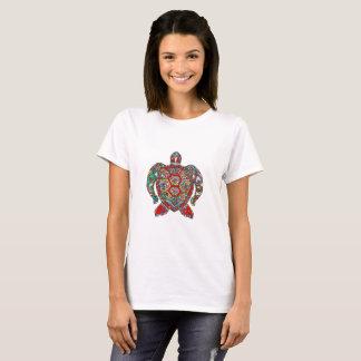 Camiseta Linha decorativa floral decorativa arte da