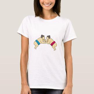 Camiseta Linha do lado da luta dos lutadores do Sumo de