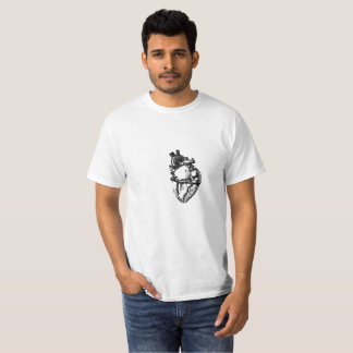 Camiseta Linha realística arte do coração
