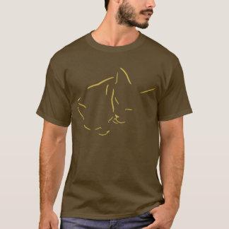 Camiseta Linha Snuggling design dos gatos da arte