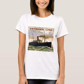 Camiseta Linha viagens vintage de Batavier