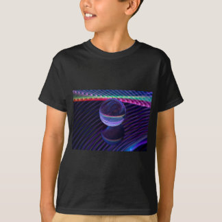 Camiseta Linhas Checkered na bola de vidro