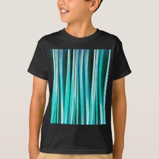Camiseta Linhas Stripy teste padrão de turquesa e do oceano