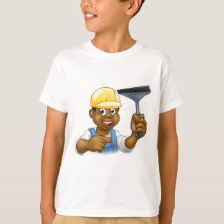 Camiseta Líquido de limpeza de janela com rodo de borracha