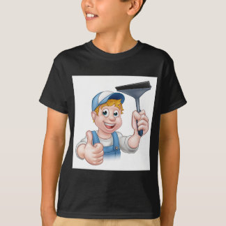 Camiseta Líquido de limpeza de janela que guardara o rodo