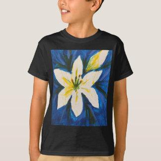 Camiseta Lírio branco na coleção azul por Jane