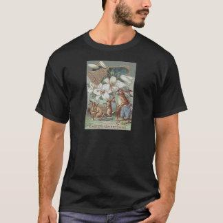 Camiseta Lírio pintado colorido coelhinho da Páscoa Bell do