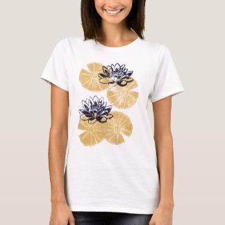 Camiseta Lírios de água dourados