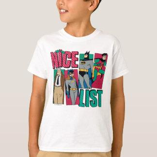 Camiseta Lista agradável do papai noel de Batman   de