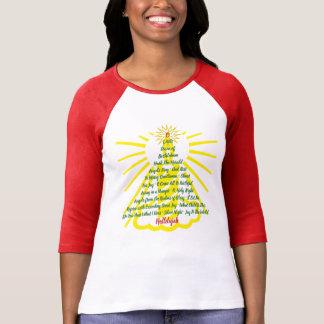 Camiseta Lista da canção da luz de vela